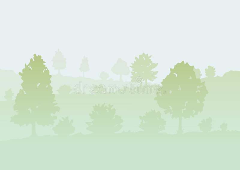 Download Trees In A Fog Royalty Free Stock Image - Image: 7613416