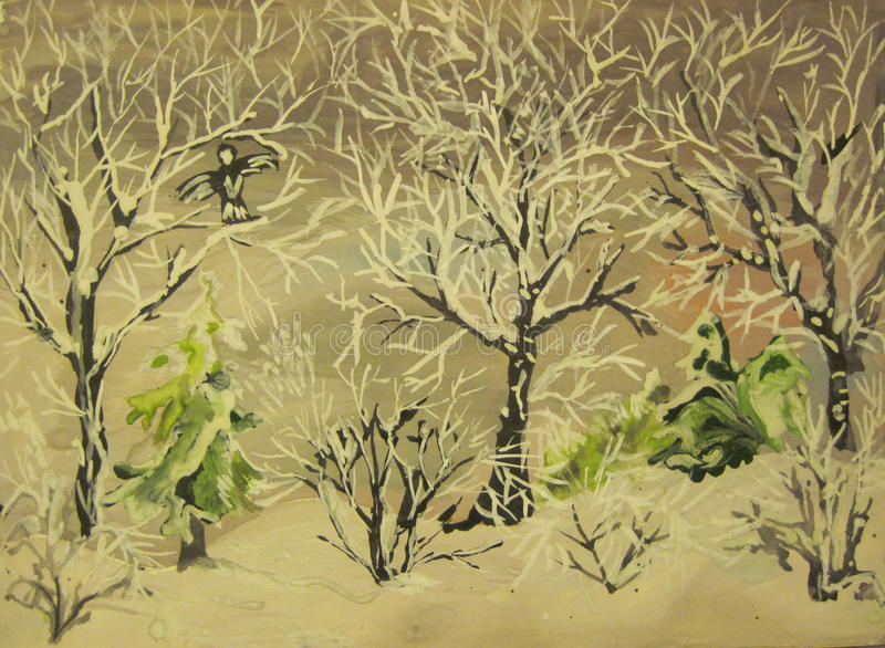 Download Trees in the frost stock illustration. Image of images - 31998175