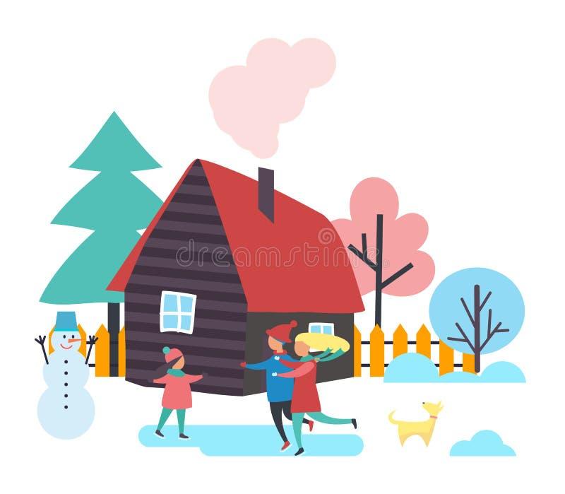 Snowman Construction Stock Illustrations