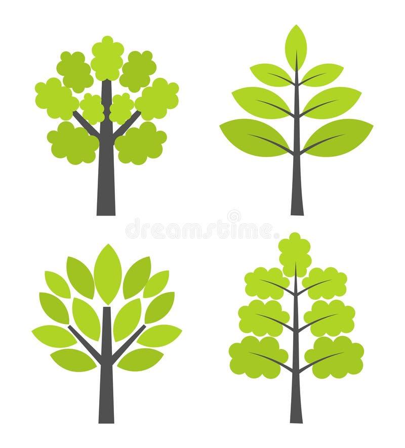 Trees icons royalty free illustration