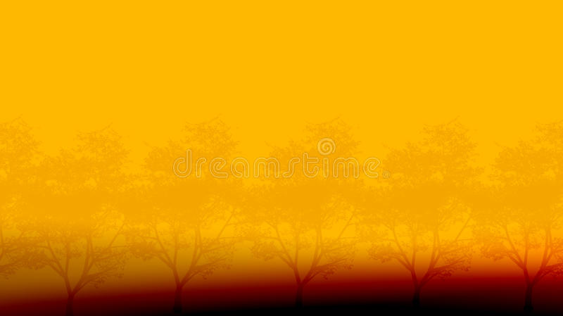 Trees In The Morning Royalty Free Stock Photography
