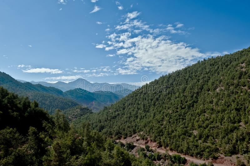 Atlas Mountains, mountains chain in Morocco royalty free stock image