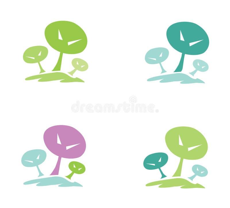 Trees pictogram vector illustration