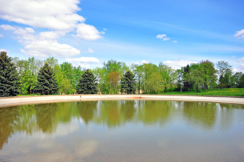 Download Trees Reflection Stock Photo - Image: 40349786