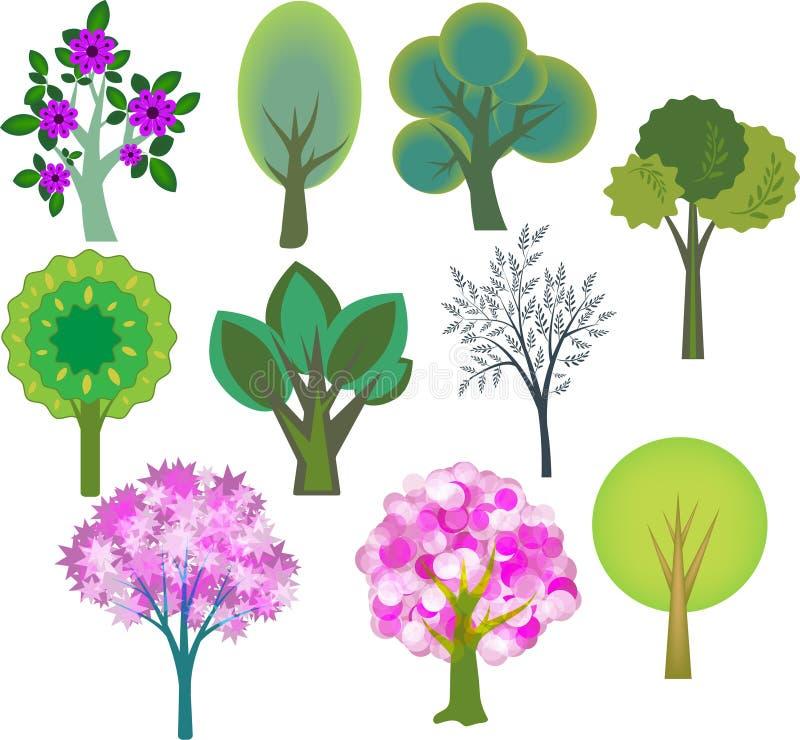 Trees set royalty free illustration