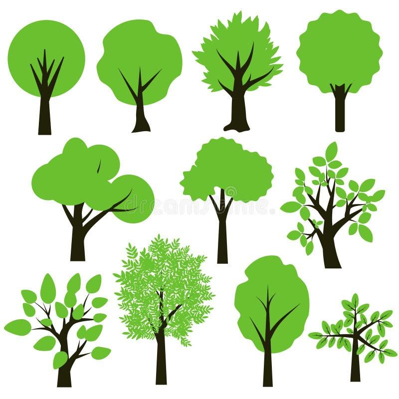 Trees set stock illustration