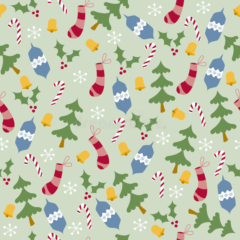 Download Trees And Stockings Seamless Pattern Stock Vector - Image: 9671275