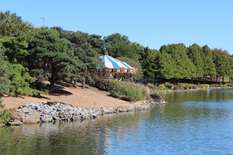 5.Trees, water, Playground at RIO Washington Center royalty free stock images