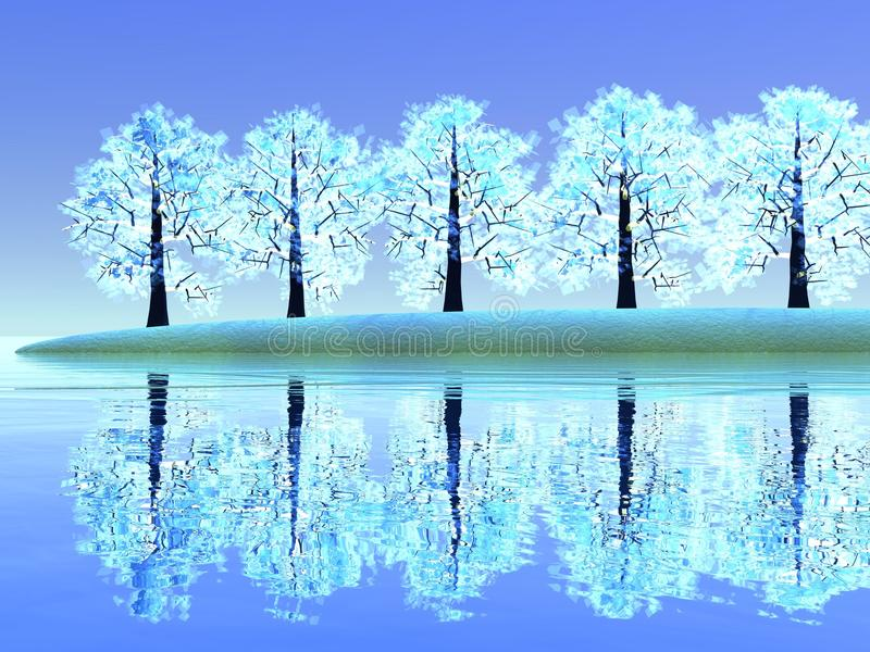 Trees by winter royalty free illustration