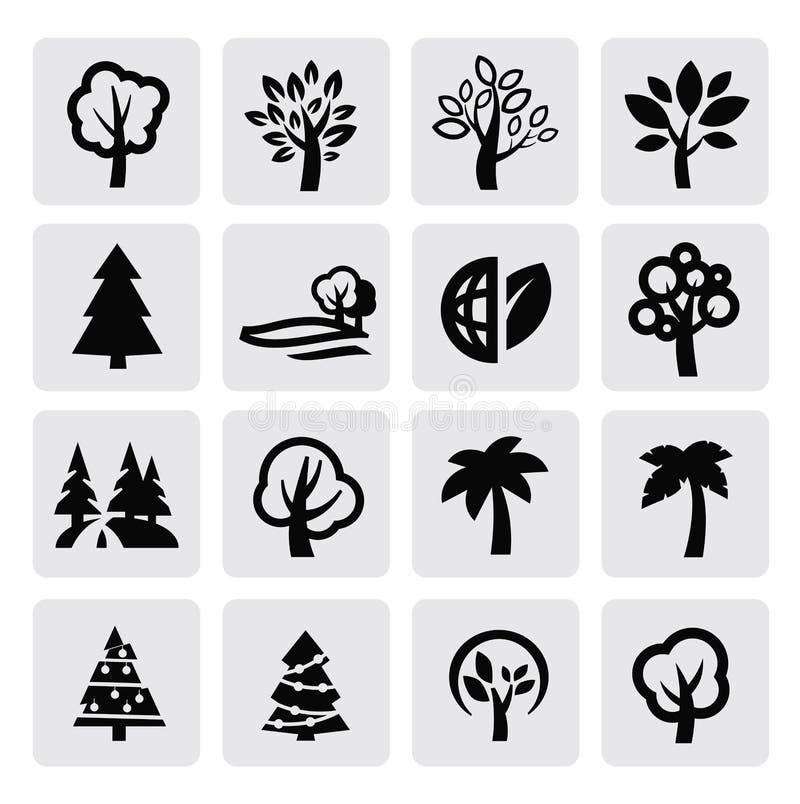 Treessymbol stock illustrationer