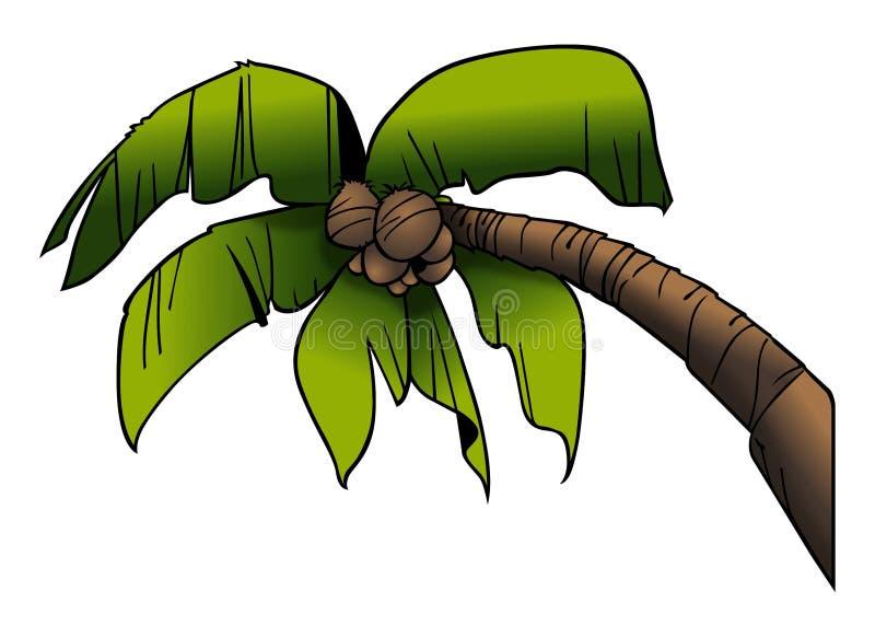 Treetop van de palm vector illustratie