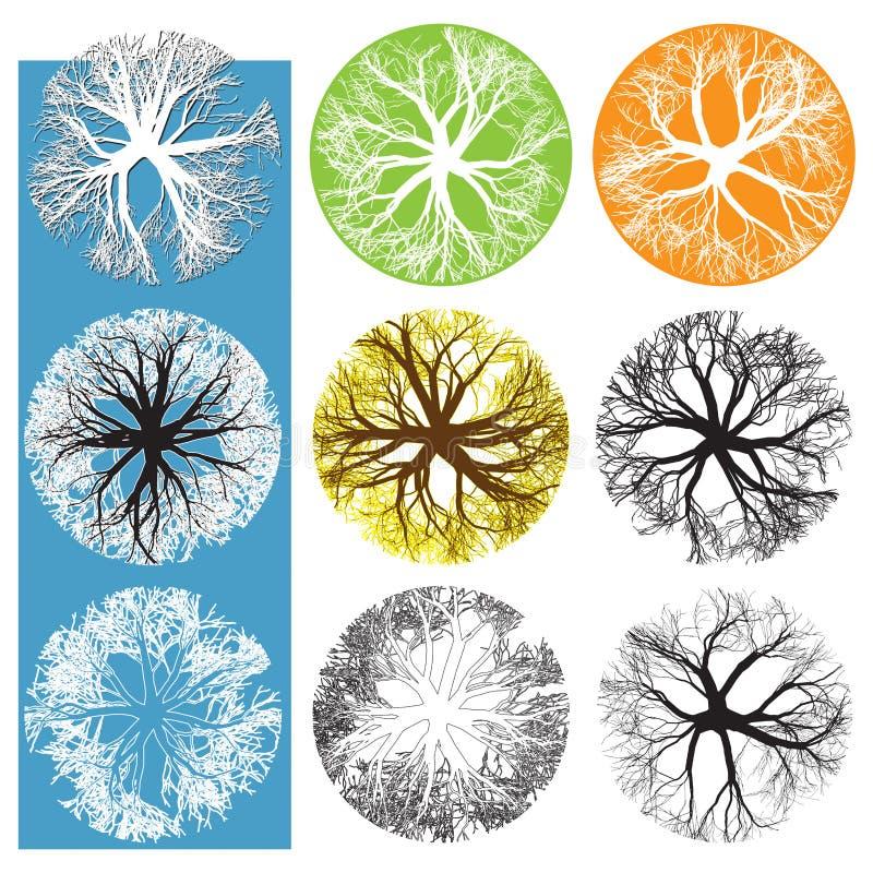 Treetopsymbole stock abbildung
