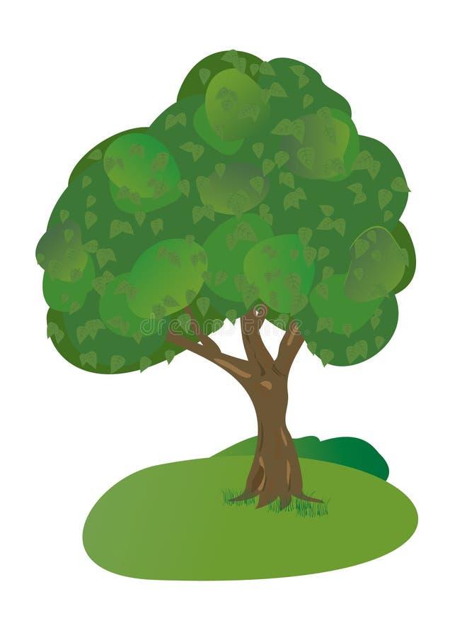 treevektor för 8 eps vektor illustrationer