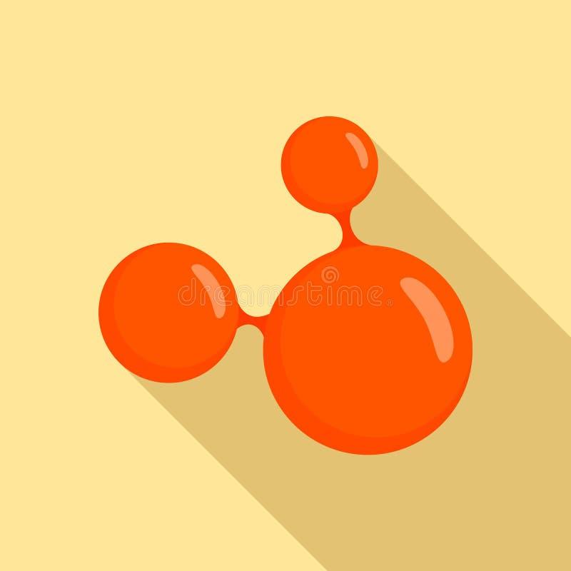 Trefaldig molekylsymbol, lägenhetstil vektor illustrationer