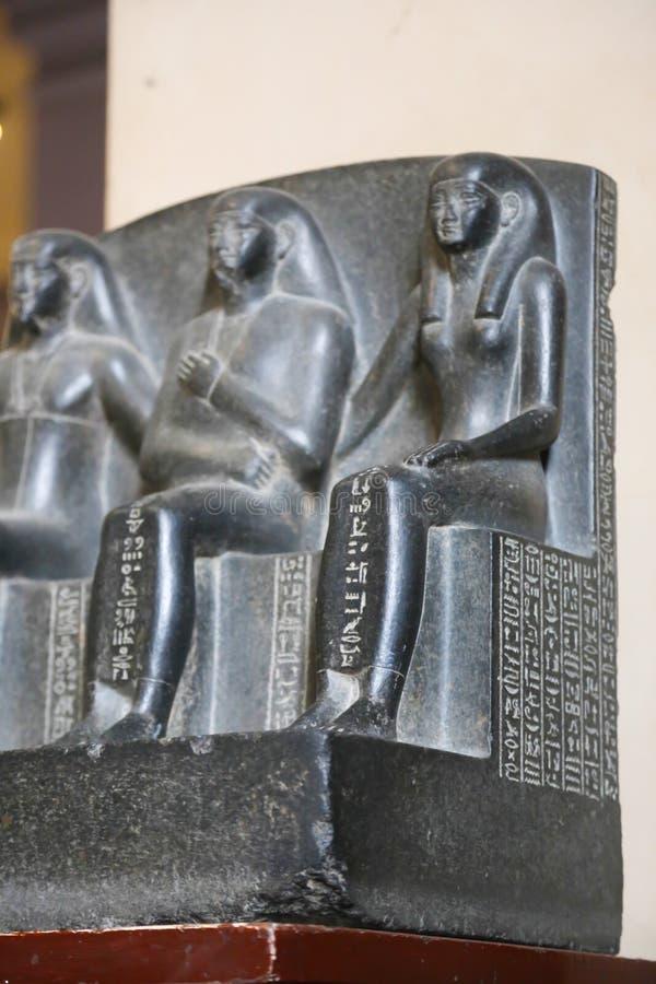 Trefaldig staty - Kairomuseum royaltyfria bilder
