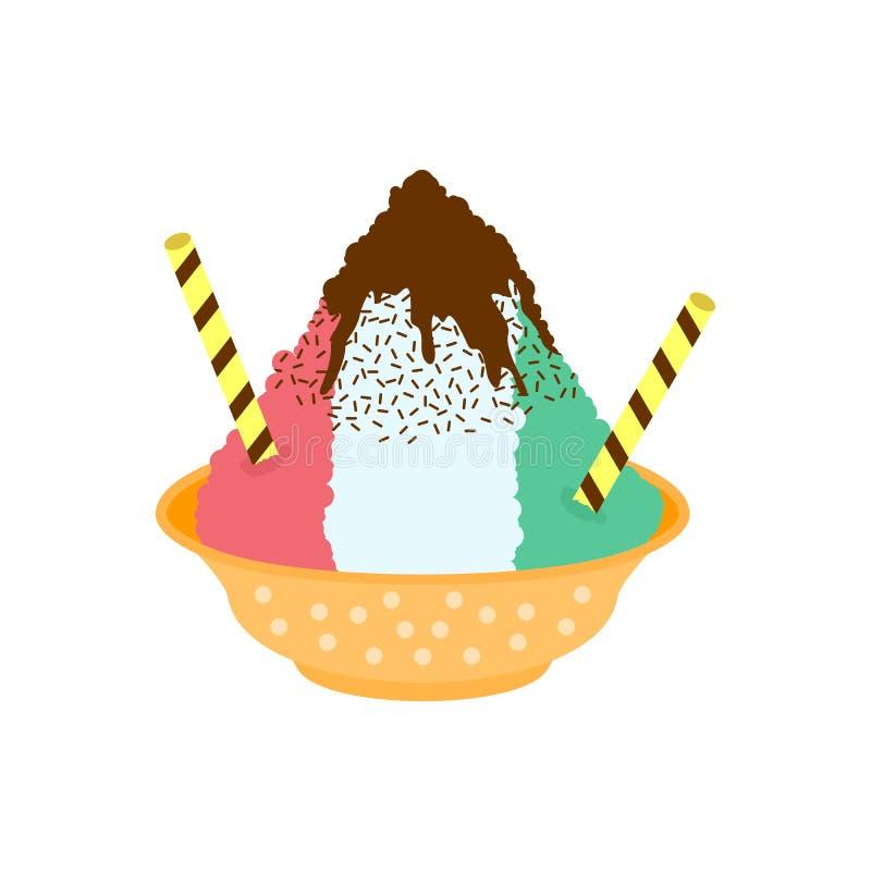 Trefaldiga rakad islogo för sirap färger royaltyfri illustrationer