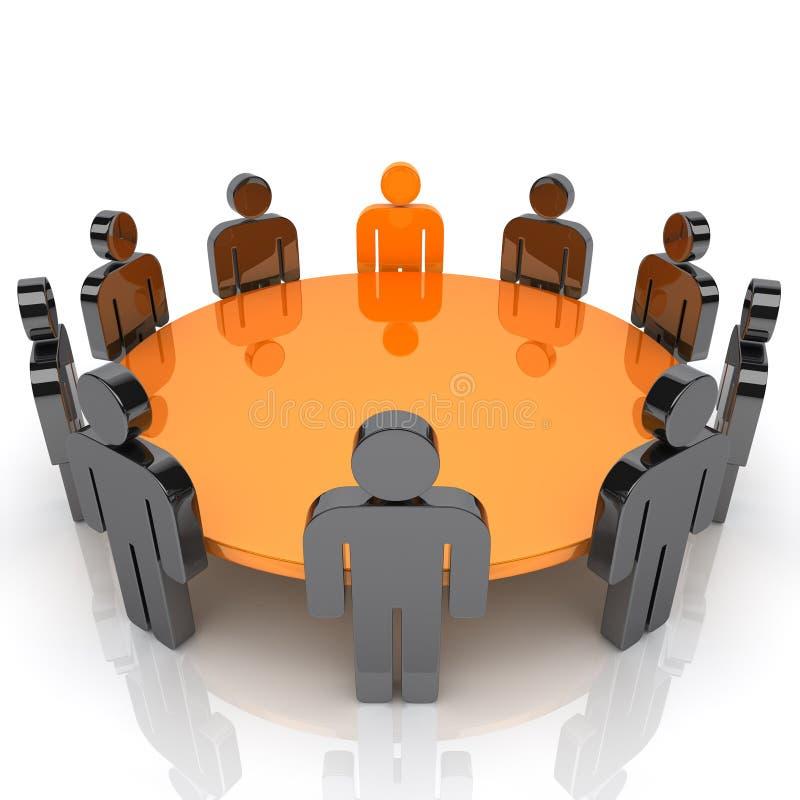 Treffen des Führers stock abbildung