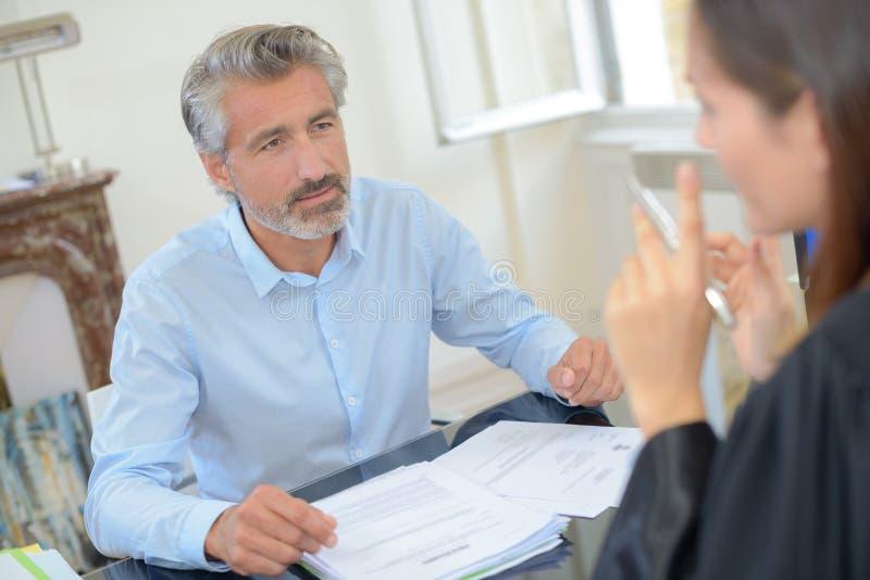 Treffen des Rechtsanwalts lizenzfreies stockbild