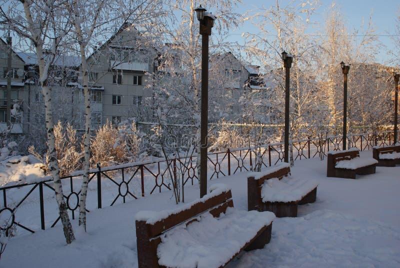 Treffen an einem Winterabend lizenzfreies stockfoto