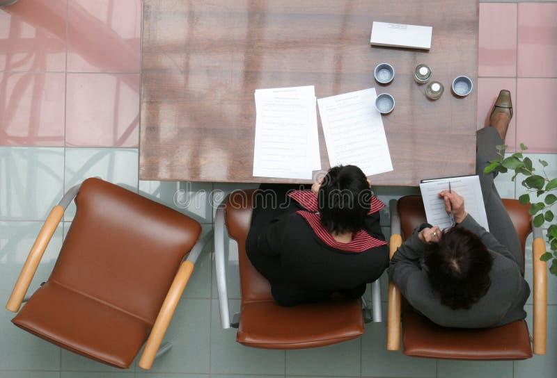 Treffen von Entscheidung lizenzfreies stockbild