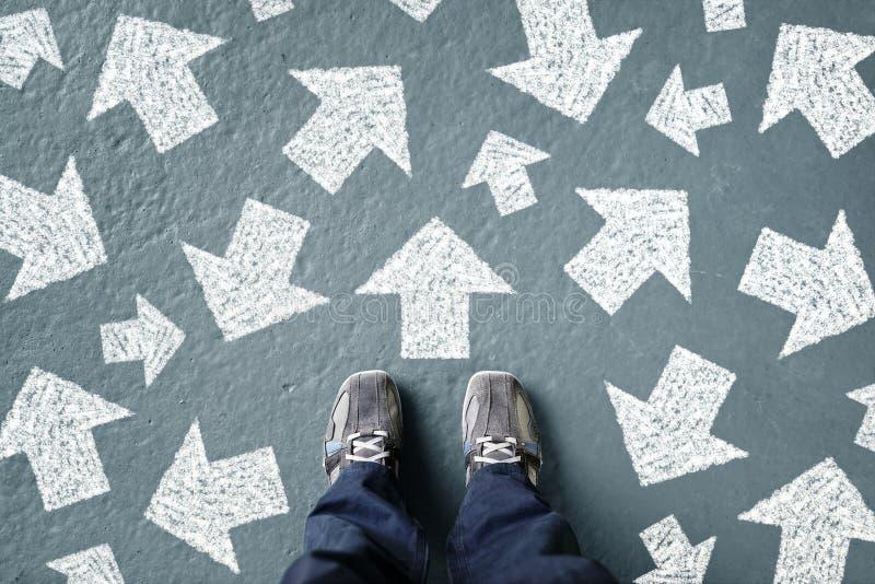 Treffen von Entscheidungen während der Zukunft lizenzfreies stockbild