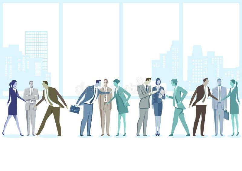 Treffen zwischen Chef und Angestellten lizenzfreie abbildung