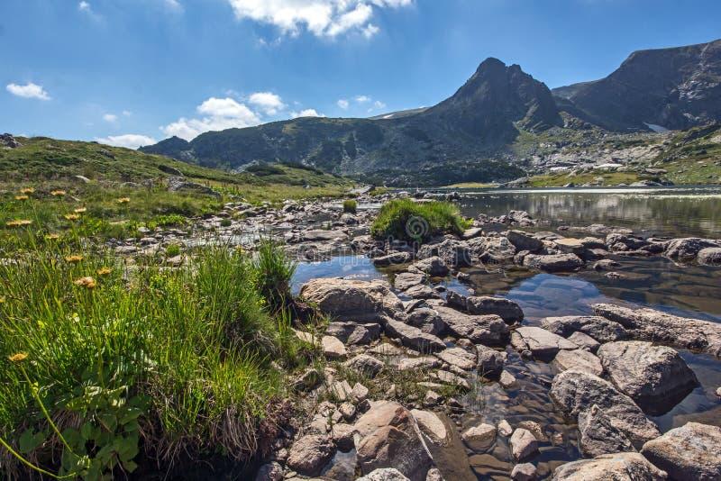 The Trefoil Lake, The Seven Rila Lakes, Rila Mountain. Bulgaria stock photos