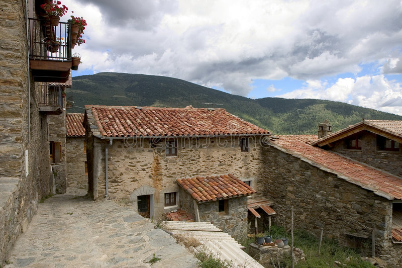 Tregura DE Dalt, Catalonië stock foto