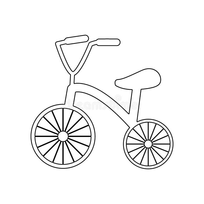 Trehjulingsymbol Best?ndsdel av Baby f?r mobilt begrepp och reng?ringsdukappssymbol ?versikt, tunn linje symbol f?r websitedesign royaltyfri illustrationer
