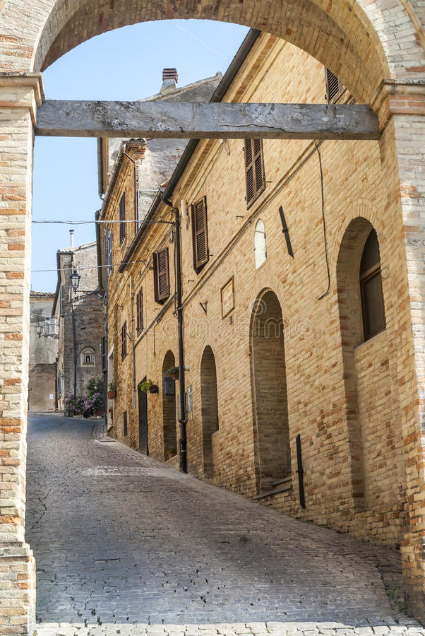 Download Treia (Marches, Italy) stock image. Image of door, marches - 28918353