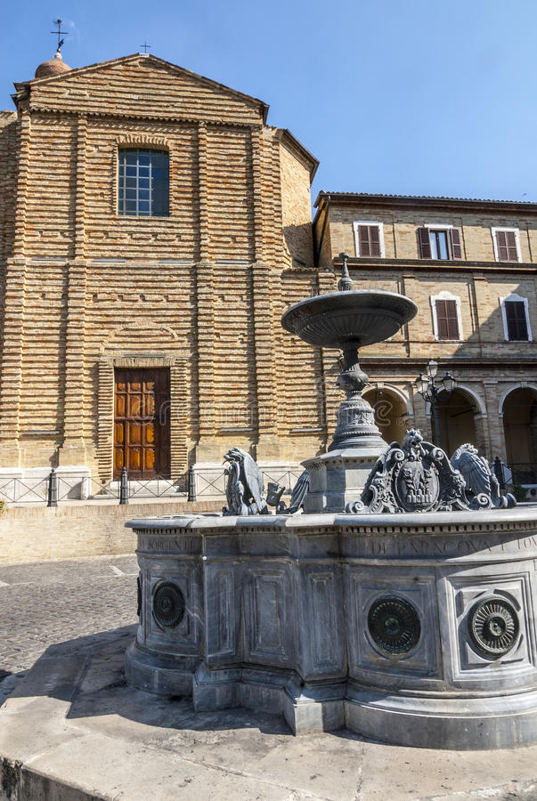 Download Treia (Marches, Italy) stock image. Image of church, ornament - 28963317