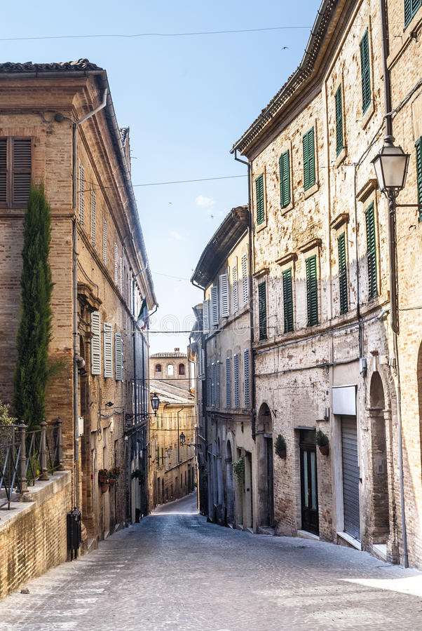 Download Treia (Marches, Italy) stock image. Image of architecture - 28963321