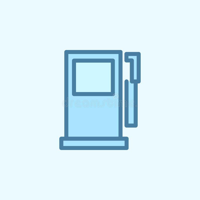 TreibstoffFüllmaschine-Feldentwurfsikone Element der 2 Farbeinfachen Ikone Dünne Linie Ikone für Websitedesign und Entwicklung, A vektor abbildung