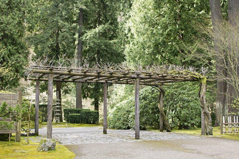 Treillis au jardin de Japonais de Portland photographie stock libre de droits