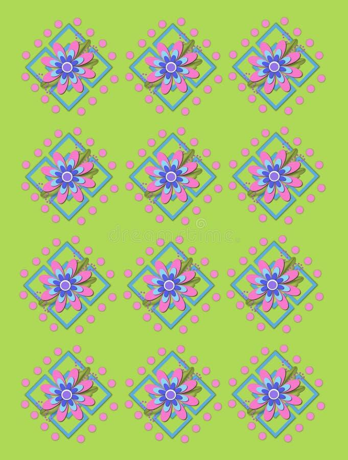 Treillis de jardin à Apple vert illustration libre de droits