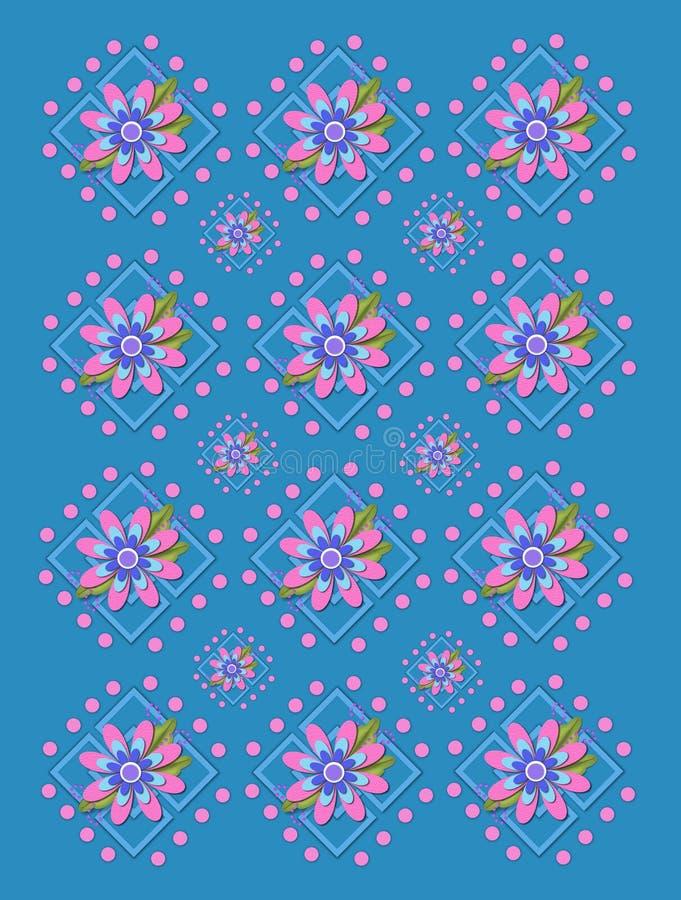 Treillis de jardin dans le bleu de denim illustration libre de droits