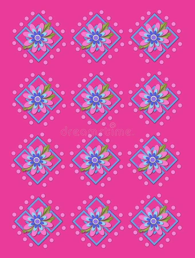 Treillis de jardin dans les roses indien illustration stock