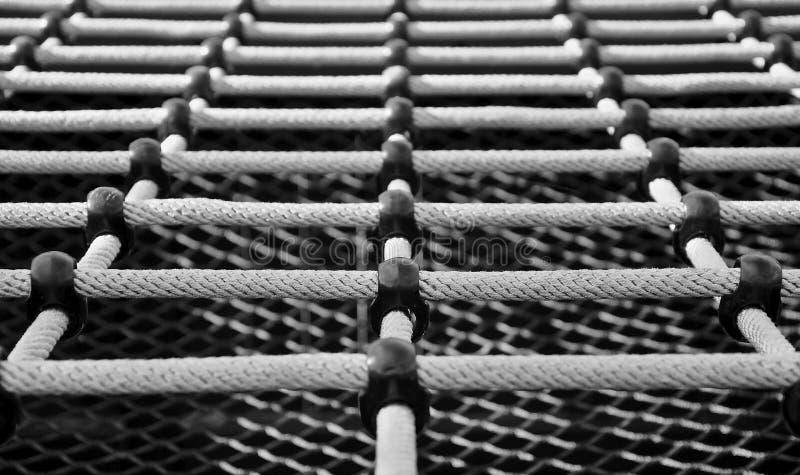 Treillis s'élevant de corde photographie stock