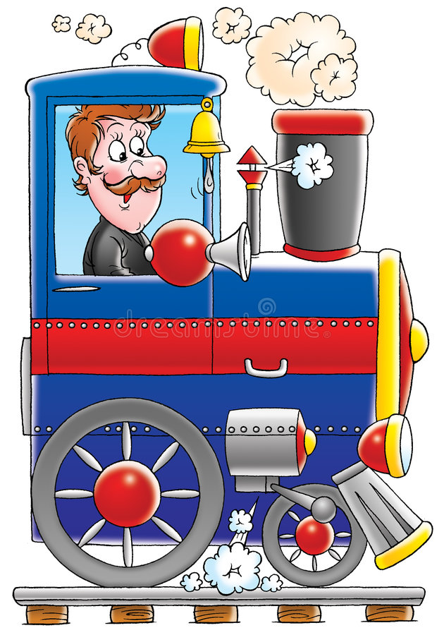 Trein stock illustratie