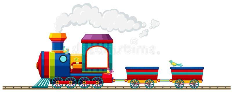 Trein die op het spoor berijden vector illustratie