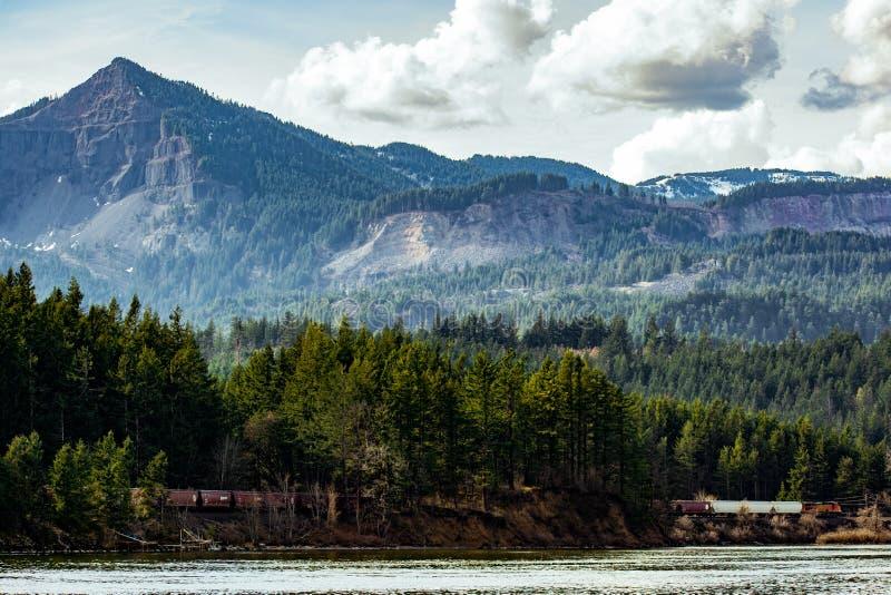 Trein in het Berglandschap stock foto