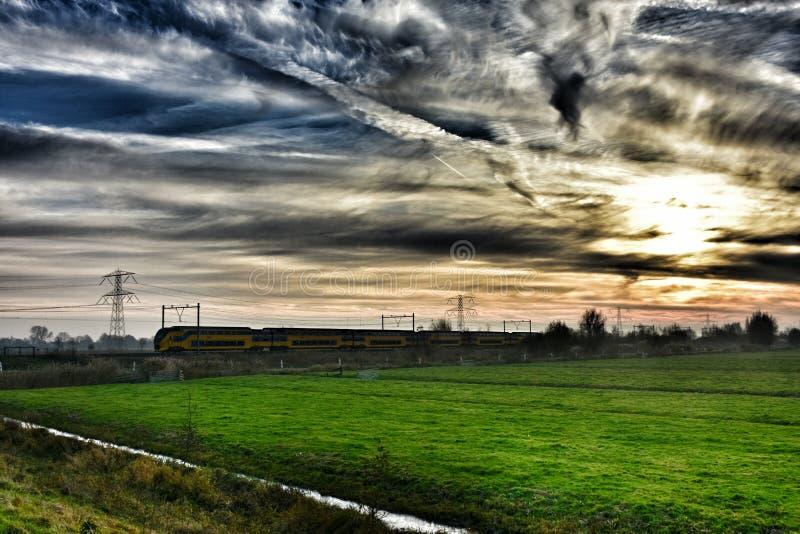 Trein Holland royalty-vrije stock afbeelding