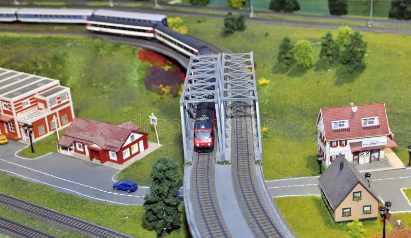 Trein modelminiatuur royalty-vrije stock fotografie