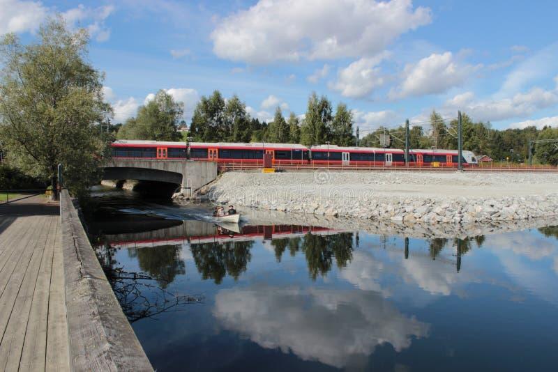Trein in Noorwegen royalty-vrije stock fotografie