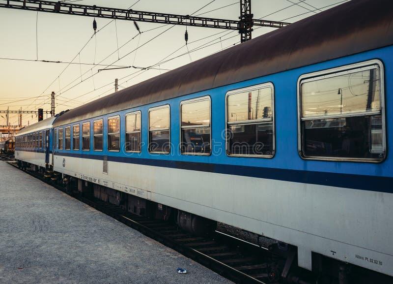 Trein in Pilsen royalty-vrije stock foto