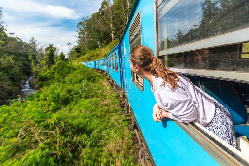 Trein in Sri Lanka stock foto