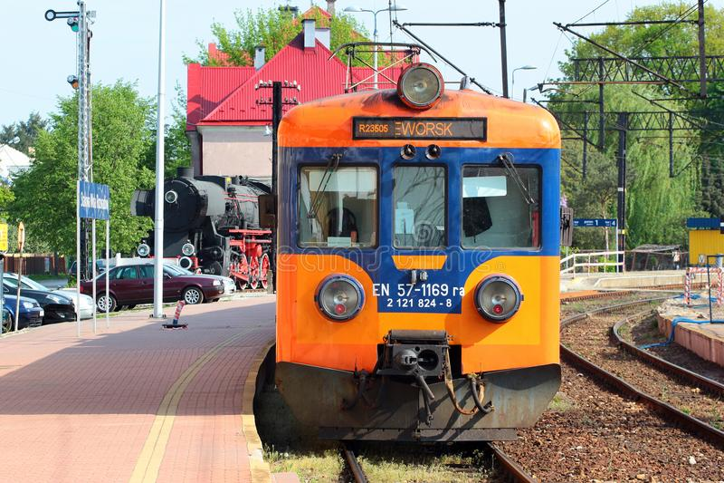 Trein in Stalowa Wola, Polen stock foto