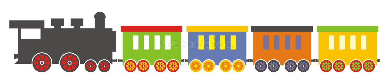 Trein, Stoomlocomotief stock illustratie