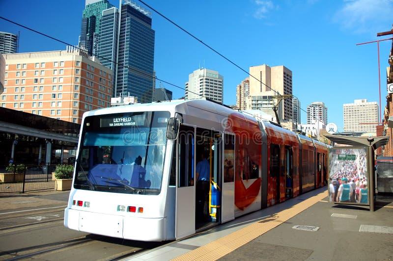Trein in Sydney royalty-vrije stock afbeelding