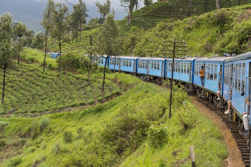 Trein van Kandy aan Ella in Sri Lanka royalty-vrije stock foto's